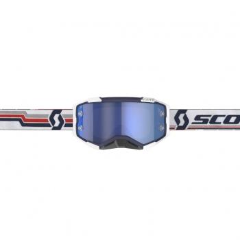 SCOTT Fury MX-Brille Blue/White Electric Blue Chrome Works