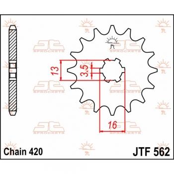 JT Motorritzel Quad KFX50 10Zähne 03-06