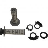 ODI Lock On V2 System Emig für 2 und 4Takt grau/graphite