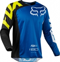 FOX 180 Race Jersey Blue Gr: M