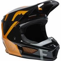 "FOX V1 Skew Helm ECE Schwarz/Gold  """"MX22"""""