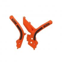 Rtech Grip Rahmenschützer KTM SX/F 19-, EXC 20- Orange Schwarz