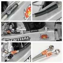 Stahlflex-Bremsleitung RMZ250 07->/ 450  08-> hinten
