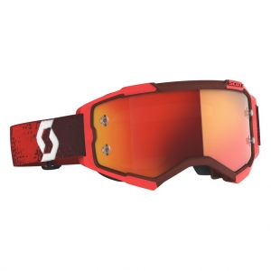 SCOTT Fury MX-Brille  Red   /  Orange Chrome Works