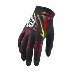 FOX Rockstar Airline Motocross Handschuh yellow/red