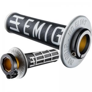 ODI Lock On V2 System Emig black/white 2 und 4Takt