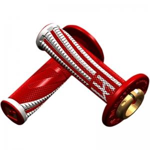 ODI Griffe Emig Pro V2 Lock-On rot-weiß