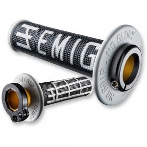 ODI Lock On V2 System Emig für 2 und 4Takt schwarz/weiß