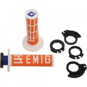 ODI Lock On V2 System Emig für 2 und 4Takt orange/weiß