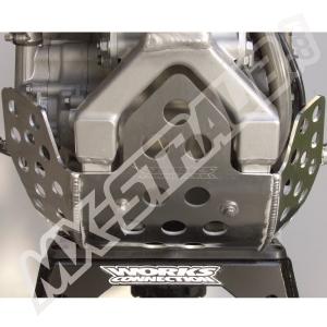 Works Connection Motor-Schutzplatte mit Seitenschutz Kawasaki KXF 450 09-15