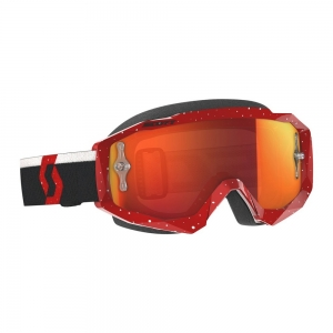 SCOTT Hustle Red/White / Lens Orange Chrome Works