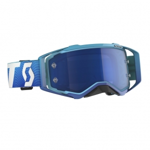 SCOTT Prospect MX Brille Blue/White / Elektric Blue Chrome Works