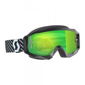 SCOTT Hustle X MX Brille Black/White / Lens Green Chrome Works