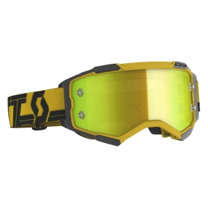SCOTT Fury MX-Brille  Yellow/Black / Yellow Chrome Works