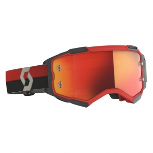 SCOTT Fury MX-Brille  Red/Black / Orange Chrome Works
