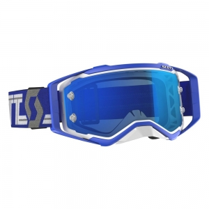 SCOTT Prospect Goggle White/Blue / Lens Elektric Blue Chrome Works