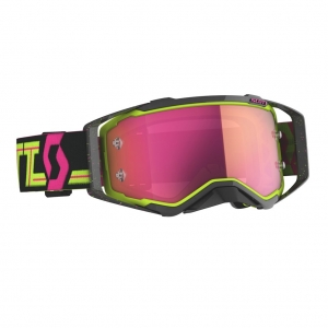 SCOTT Prospect MX Brille Black/Yellow / Elektric Blue Chrome Works