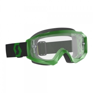 SCOTT Hustle X MX Brille Green/Black / Lens Clear