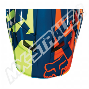 FOX V1 Helmet Visor Race Navy/Yellow Gr: XS/S