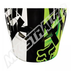 FOX V1 Helmet Visor Race Black/Green Gr: XL/2XL