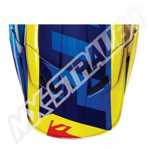 FOX V1 Helmet Visor Vandal Yellow/Blue Gr: M/L