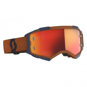 SCOTT Fury MX-Brille  Grey/Orange / Orange Chrome Works