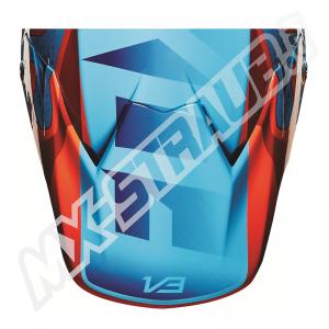 FOX V3 Helmet Visor Flight Red