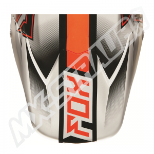 FOX V3 Helmet Visor Franchise Orange Matte/Gloss Finish