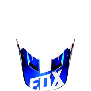 FOX V1 Helmet Visor Race  Blue Gr: M/L