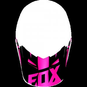 FOX V1 Helmet Visor Race Pink Gr: M/L