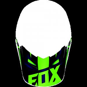 FOX V1 Helmet Visor Race Flou Green Gr: XS/S
