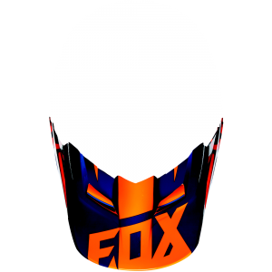 FOX V1 Helmet Visor Race Orange/Blue Gr: XS/S