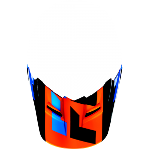 FOX V1 Helmet Visor Mako Orange Gr: XS/S