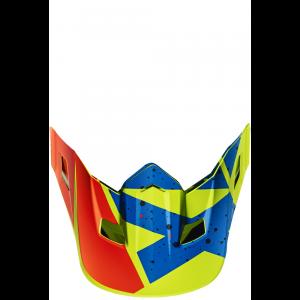 FOX V2 Nirv Helm Visor Gelb/Blau