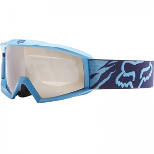 FOX Main Race Kinder MX Brille Navy mit Spiegelglas Chrom