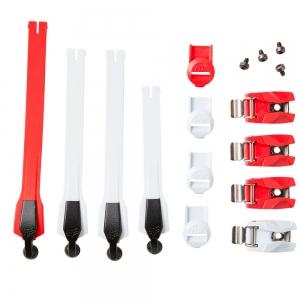 FOX Instinct Stiefel Schnallen Kit komplett Weiß/Rot