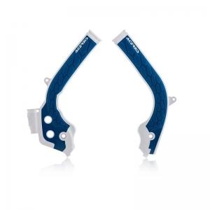 Acerbis Rahmenschützer X-Grip Husqvarna TC/TE/FC/FE125-450 16-18 Weiß/Blau