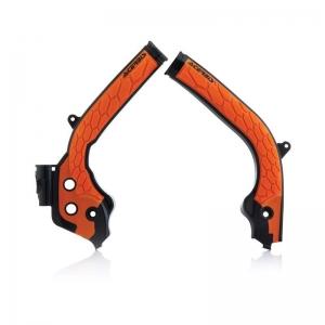 Acerbis Rahmenschützer X-Grip KTM SX(F) 16-18/EXC(F) 17-19  Schwarz/Orange