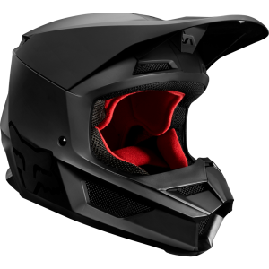 FOX V1 Matte Helm Black Matt S