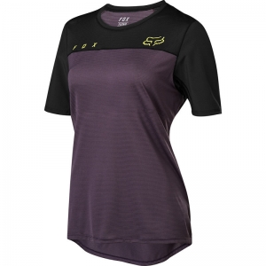 FOX MTB Womens Flexair Jersey Dark Purple