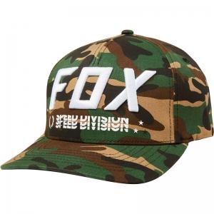 FOX Triple Threat Flexfit Hat  Green Camo  L/XL
