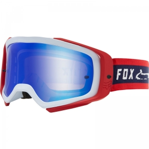 FOX Airspace II Prix Brille Navy/Red / Mirror Lens Blue