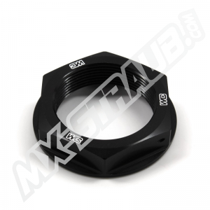 Steuerkopfmutter von WorksConnection für KX(F)125-450 schwarz