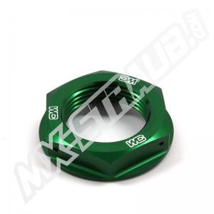 Steuerkopfmutter von WorksConnection für KX(F)125-450 grün