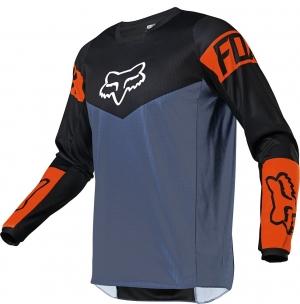 FOX 180 Revn Jersey Blue Steel Gr: L