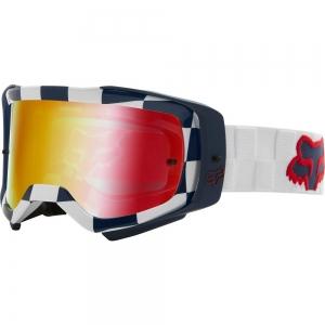 FOX Airspace Afterburn MX-Brille Weiß mit rotverpeigelter Lexan™-Sichtscheibe