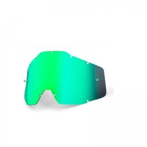 Ersatzglas für 100% Racercraft/Accuri Brille in Grün verspiegelt