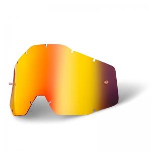 Ersatzglas für 100% Racercraft/Accuri Brille in Rot verspiegelt