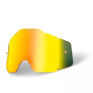 Ersatzglas für 100% Racercraft/Accuri Brille in Gold verspiegelt