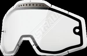 Doppelglas mit Ventilation für 100% Racercraft-2/Accuri-2/Strata-2 Brille in Klar